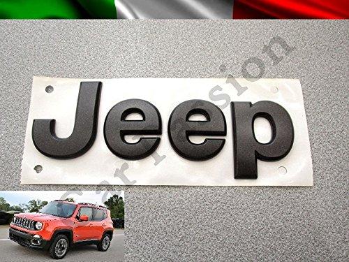 2PCS/Ã/ƒ/Â/ƒ/Ã/'/Â/— Flat Matte Black JEEP Emblem Logo Stickers Cherokee Wrangler Unlimited by JGCParts