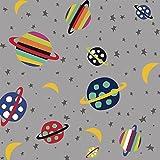 Planeten Stoffe-Planeten-0,5Meterware-von