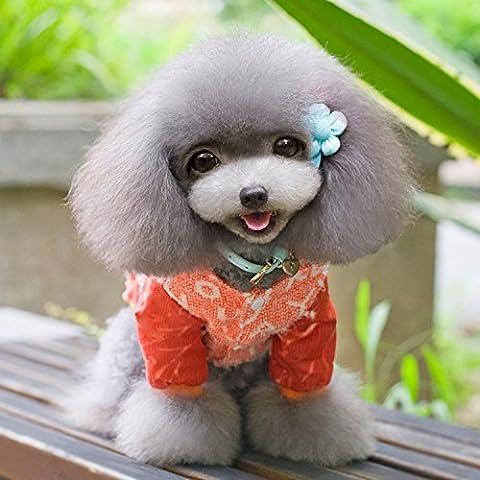 Mascota ropa de invierno para perro personalidad falda repujado enaguas perro pequeñoCaniche canicheSorok perro perros hembras dedicado,Repujado enaguas naranja,10(Recomendaciones3-4La carga de