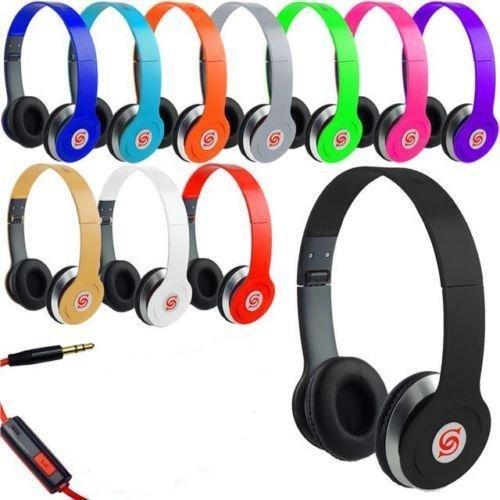 HD Sound DJ Style SOLID BASS Kopfhörer SL - 800 für MP3/MP4, iPod, iPhone, iPad, Tablets, Laptops, Smartphones, tragbare Media Player etc. 800 Ipod