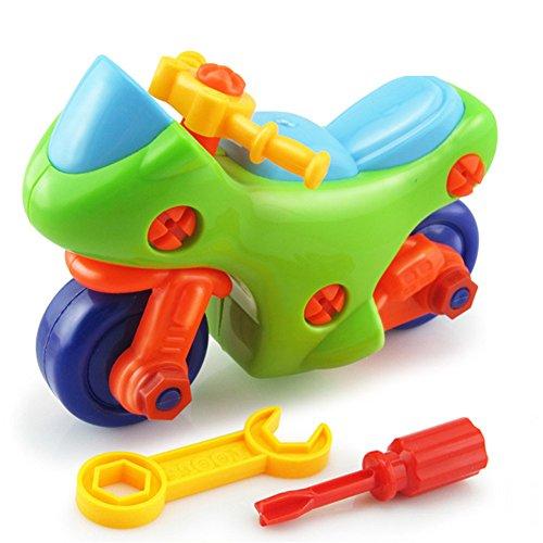 Preisvergleich Produktbild Chickwin-Demontage Montage Spielzeug Karikatur Tierpuzzlespiel DIY Spielzeug mit Werkzeug Pädagogisches Kinderspielzeug ab 345 Jahren Alt (Farbe zufällige Lieferung) (Motorrad)