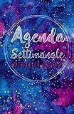 Scarica Libro Agenda Settimanale Watercolor Universe Weekly Planner in italiano 2018 life organizer da borsa 12 mesi 54 settimane (PDF,EPUB,MOBI) Online Italiano Gratis