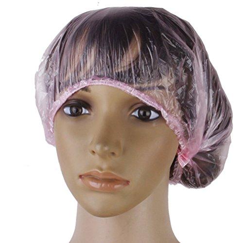 NUOLUX Einweg-Dusche Badekappen Hair Caps für Spa Salon-100pcs(Pink)