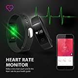 Fitness Tracker Mpow Heart Rate Monitor Tracker Smart Bracelet Activity Tracker Bluetooth Pedometer With Sleep Monitor Smartwatch For IPhone Samsung Other Android Or IOS Smartphones For Adults Kids