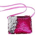 Da.WA colore paillettes portamonete Sling bag Crossbody bag quadrato piccolo portafoglio per donne e bambini regalo
