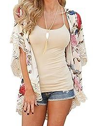 Kimono de verano, Dragon868 Más tamaño de las mujeres de verano kimono Cardigan chal blusas