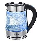 [neu.haus] Digitaler Wasserkocher 1,7l Glas Edelstahl Teekocher - Temperaturwahl Farbwechsel LED