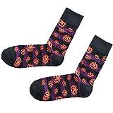 MERICAL Halloween socken Baumwolle Fledermaus Pumpkin Sweat absorbierende atmungsaktive Socken (Freie Größe, Lila)