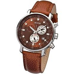 Urs Auer ZU-611 Venetian Brown Chronograph für Ihn SWISS ISA