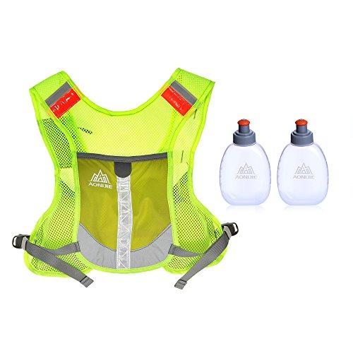 150g Flaschen (Lixada Hydratation Weste Rucksack/Sport Reflektierende Weste für Trailrunning/Marathon(Mit 2 * 170ml Flasche (Optional)))