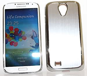 steve-tronik Metall Chrome gebürstetes Aluminium Luxus Hard Case HÜLLE TASCHE für Galaxy S4 i9500 DELUXE CASE HARDCASE ETUI HÜLLE SCHUTZHÜLLE COVER BUMPER CHROM