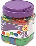 Miniland Buttons and Cards in Tub (140 Pieces)