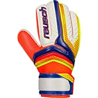 Reusch Niños Sera Thor RG Easy Fit Junior – Guantes de Portero, Infantil, Color Dazzling Blue/Safety Yello, tamaño 4,5
