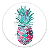 Expanding Stand and Grip for Smartphones and Tablets, Multi-function Mounts and Stands Kit Car Mount iPhone Holder Collapsible - Watercolor Pineapple