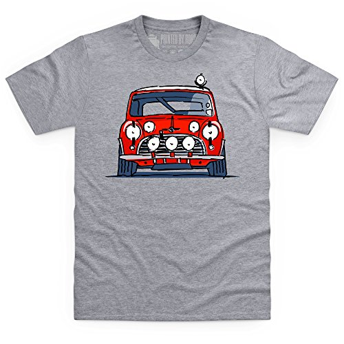 Classic British Red Rally Car S Model T-Shirt, Herren Grau Meliert