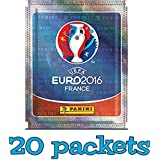 Panini UEFA Euro 2016 France sticker collection sticker pack - 20 packets (100 random stickers) UK version