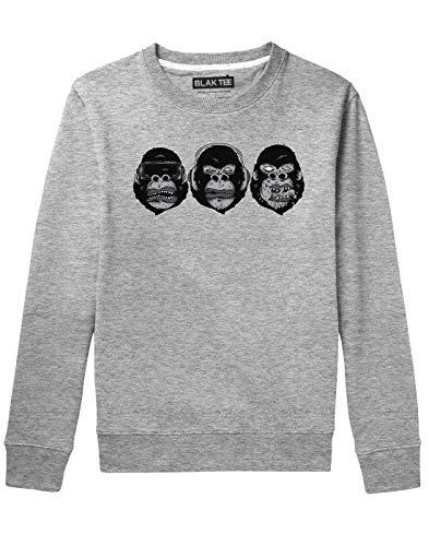 BLAK TEE Hombre Monkey See Monkey Do Gorilla Illustration Camisa De Entrenamiento M