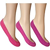 Ladies Pastel Mix Super Soft Cotton Rich Summer Invisible Footsies Socks (3 Pair Multi Pack)