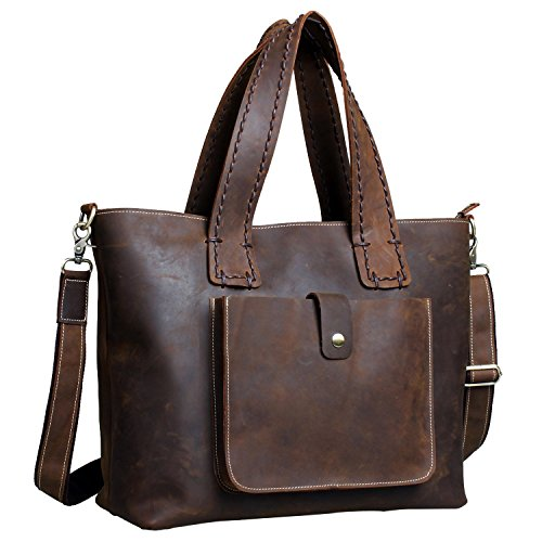 - 51EOMvev6DL - Fairkraft 16″ Genuine Leather Crossbody & Shoulder bag, Women Purse Tote Handbag Diaper Bag Evening Travel Bag  - 51EOMvev6DL - Deal Bags