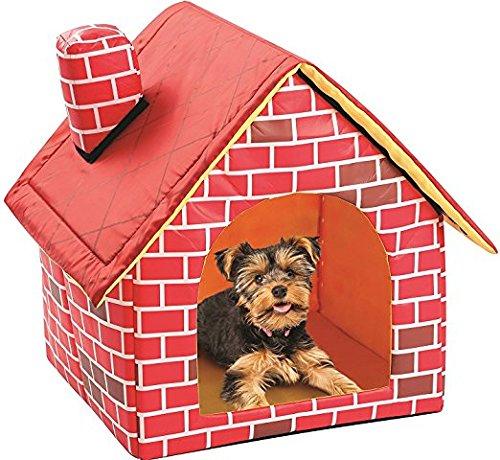 Cama portátil de ladrillo para mascotas