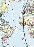 Taschenkalender Big - World Maps mit Magnetverschluß - Kalenderbuch A5-14 Monate - Kalender 2019 - teNeues-Verlag - Taschenplaner mit Lesebändchen und Zetteltasche - 16 cm x 22 cm