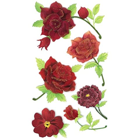 EK Success Jolees Le Grand Colourful Roses Sticker, Red