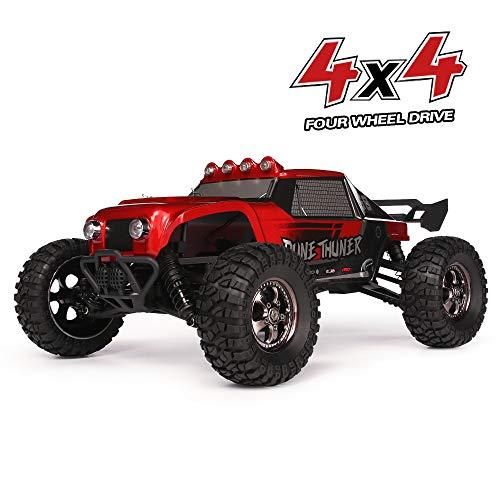 (HAIBOXING Ferngesteuert Auto 2,4 GHz 4WD 1/12 RC Desert Buggy 38 KM/H Hoch Geschwindigkeits Mit 6 LED-Leuchten, Hydraulikdämpfer Wasserdicht RC elektro Lastwagen RTR Hobby-Klasse)