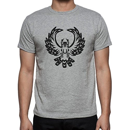 Owl Bird Night Midnighter Flying Black Herren T-Shirt Grau