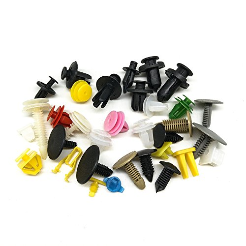 440 Rivets Plastique Vehicle Clips Agrafe Pare-chocs Clips Fixation de Protection Universel pour Auto Voitures Mttache Mixte Avec De Rangement et 5 pcs Outil Démontage Installation Audio Garniture Intérieur Installation