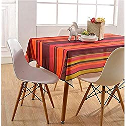 Asvert Manteles para Mesa Antimanchas Resistente a Líquidos de Estilo Moderno para Mesa Rectangular de Comedor Cocina Jardín y Bar (Colorear)