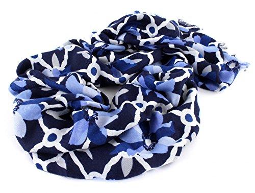 GUESS Bobbi Scarf Schal Tuch Accessoire Blue Blau Grau Neu