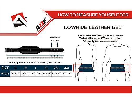 AQF-Cow-Hide-Leather-Belt-4-Weight-Lifting-Back-Support-Training-Support-Fitness-Exercise-Bodybuilding-Small