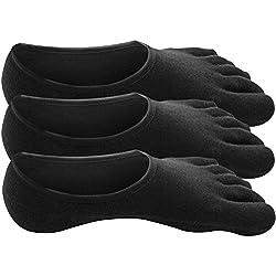 Traveler Algodón 100% Calcetines Dedos Five Fingers Hombre - 3 pares (No.1-1)