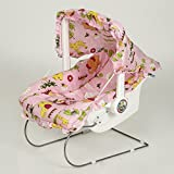 Flipzon Fun Ride Multipurpose Baby Carry Cot 9 In 1 With Mosquito Net And Sun Shade, Pink