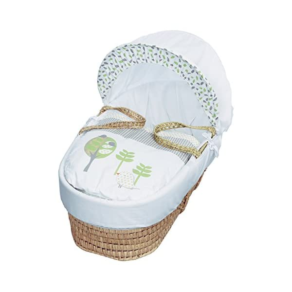 Kinder Valley Three Little Birds Moses Basket  Suitable from newborn to 6 months, this Moses Basket uses Easy-care Poly Cotton with a soft padding surround A good balance between comfort and style, moses Basket will ensure safe and sound sleeping for you and your baby The Moses Basket is a perfect starter bed for your baby. The mattress is also washable, just in case of any spillages 1