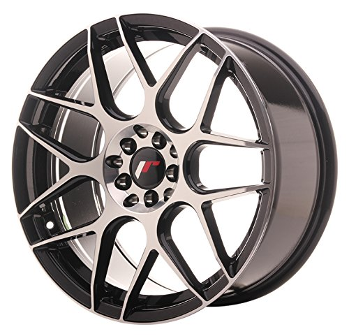 JAPAN Racing jr18 Black machined 8.5 x 18 eT35 5 x 100/120 jantes en alliage