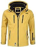 Marikoo Herren Softshell Funktions Outdoor Ski Regen Winter Jacke Sport B630 [B630-Noa-Gelb-Gr.XL]