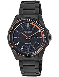 Citizen Eco-Drive Analog Black Dial Men's Watch - AW0035-51E