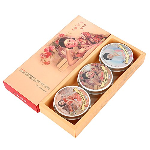 3 Vanishing Cream Feuchtigkeitscreme straffende feuchtigkeitsspendende Whitening Hautpflege Creme chinesischen klassischen Geschenk-Set mit Vintage-Paket -