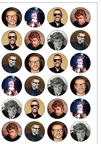 24-precut-40mm-round-george-michael-tribute-edible-wafer-paper-cake-toppers