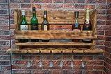 Weinregal aus Holz - hergestellt aus recyceltem Altholz in Handarbeit - Upcycling Regal -