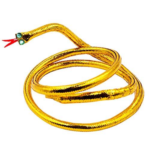Amosfun Ägyptisches Gold Schlange Cleopatra Stirnband Kopfschmuck Armband Armband Partei Kostüm Gefälligkeiten (ägyptischer Gold Kopfschmuck)