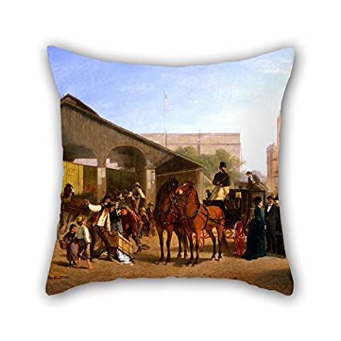 Bestseason Pillowcase/Taies d'oreillers 16 X 16 Inches / 40 By 40 Cm(twin Sides) Nice Choice For Pub,gf,gril Friend,home Theater,dinning Room Oil Painting William Hahn - Sacramento Railroad Station
