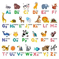 Decowall Animal Alphabet ABC Large Branch Owls Kids Wall Stickers Wall Decals (1614P1410 1614 8014)