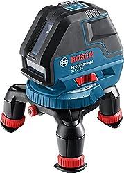 Bosch Professional Linienlaser GLL 3-50, 4x AA Batterien, Zieltafel, Universalhalterung, Schutztasche, Einlage für L-BOXX, Karton