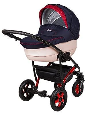 Kombi Kinderwagen Travel System Camarelo Carera Ca-13 3in1 Buggy Sportwagen Babyschale Autositz 0-10kg + Zubehör