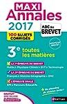 MAXI Annales ABC du BREVET 2017