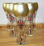 Erdinger Weißbiergläser/WM/Fußball-Edition/Pokal-Glas/WM-Pokal / 6er - Set