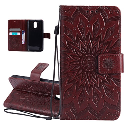 isaken-case-for-motorola-moto-g4-g4-plus-new-solid-brown-moto-g4-case-embossed-pu-leather-cover-with