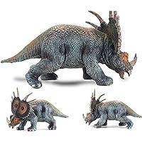 LU2000 sólida dinosaurio modelo Styracosaurus plástico animales juguetes dinosaurio colección decoración ...